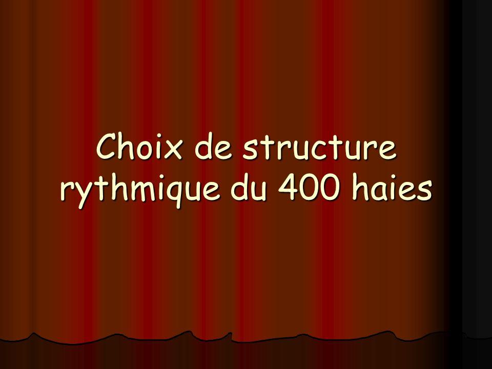 Choix de structure rythmique du 400 haies