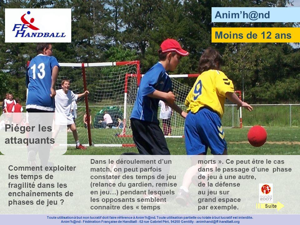 Animh@nd Moins de 12 ans Toute utilisation à but non lucratif doit faire référence à Animh@nd.