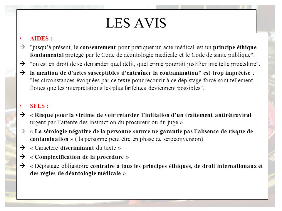 LES AVIS AIDES :