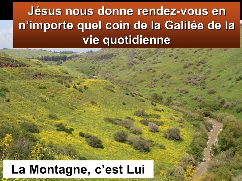 Mt 28,16-20 : Les onze disciples se rendirent en Galilée, sur la colline que Jésus leur avait indiquée.