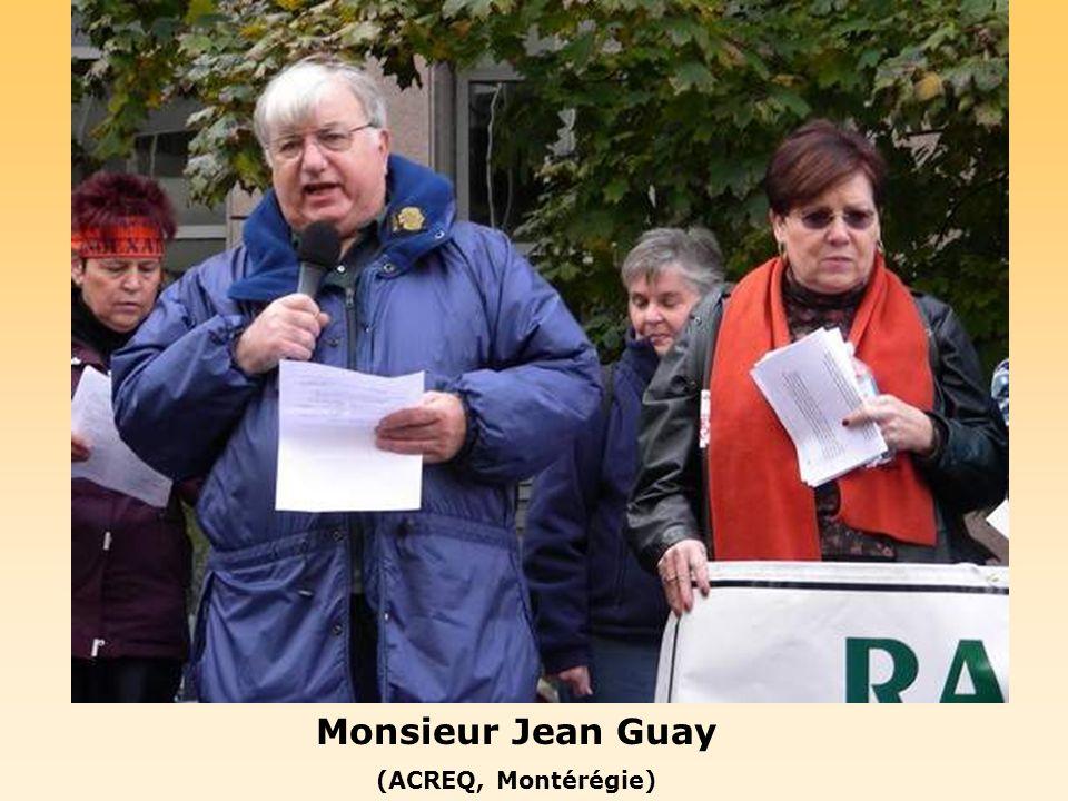 Monsieur Michel Gagnon (Président régional, AREQ Montérégie)