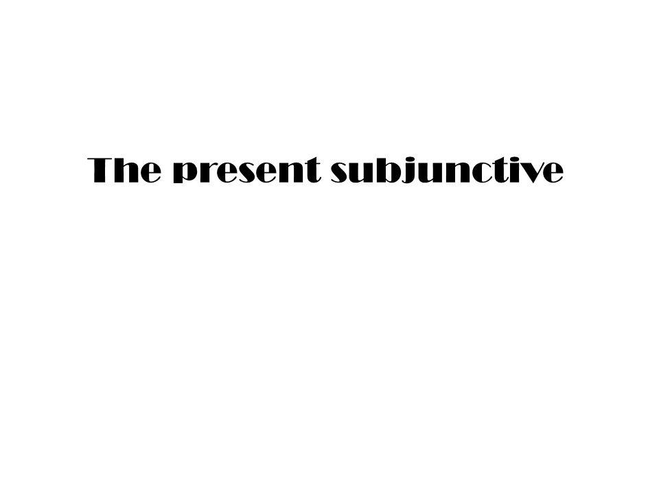The subjunctive Possibility and doubt Il est possible que Il se peut que (but not il est probable que) Il est impossible que Il nest pas certain que Il semble que (but not il me semble que) Douter que