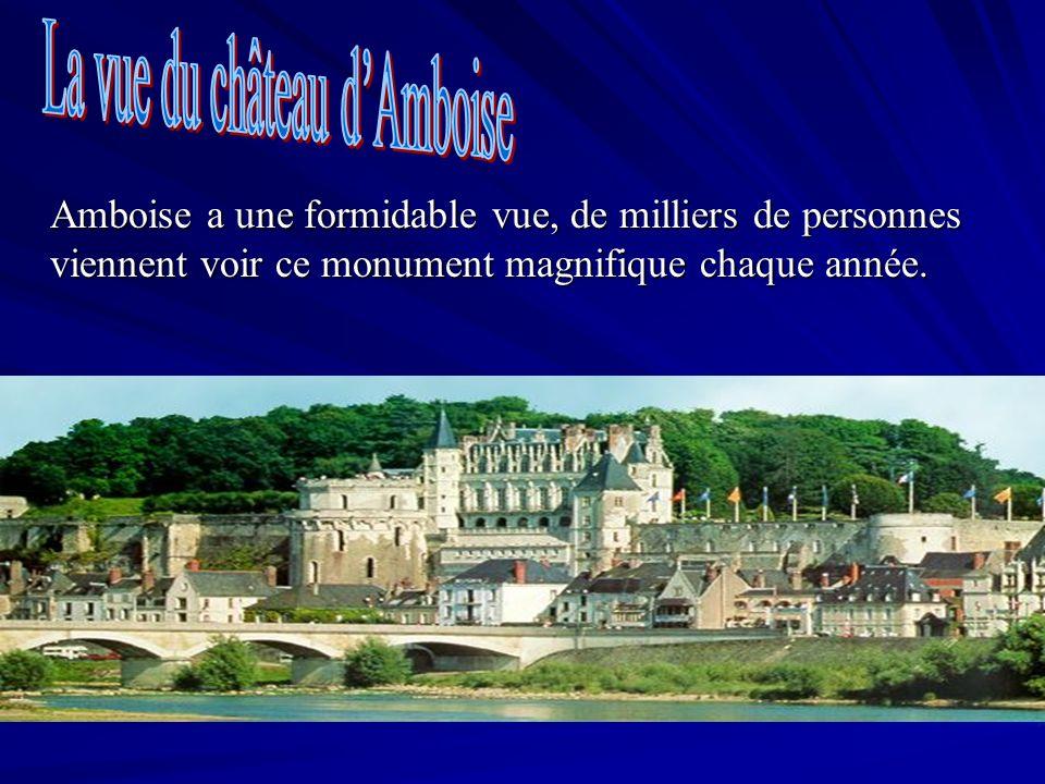 Amboise a une formidable vue, de milliers de personnes viennent voir ce monument magnifique chaque année.