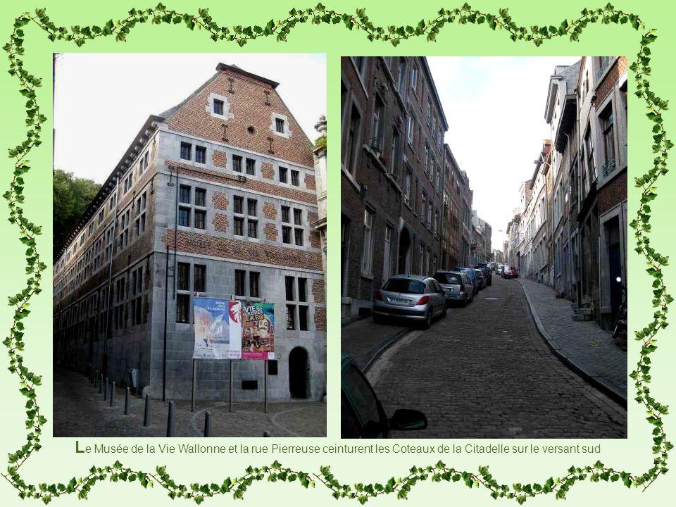L e Musée de la Vie Wallonne et la rue Pierreuse ceinturent les Coteaux de la Citadelle sur le versant sud