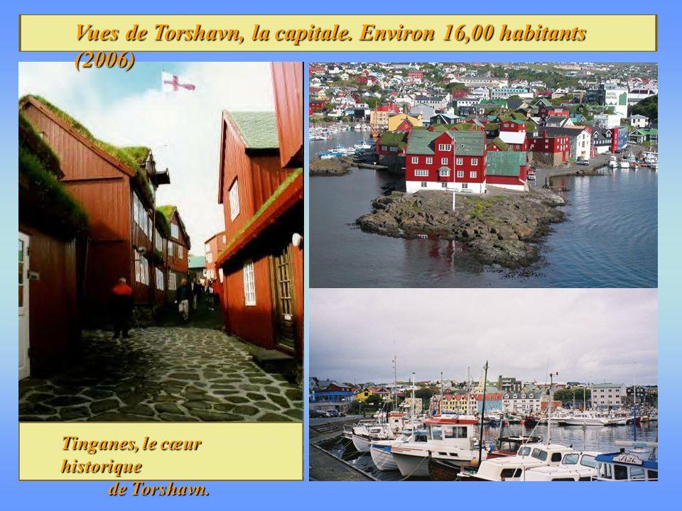 Vues de Torshavn, la capitale.