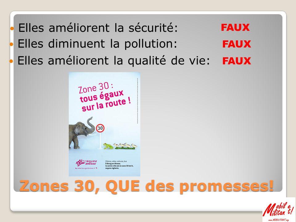 Autre étude très précise sur lévolution des émissions de polluants en Z30 AVEC aménagements de sécurité, cest encore + de pollution….