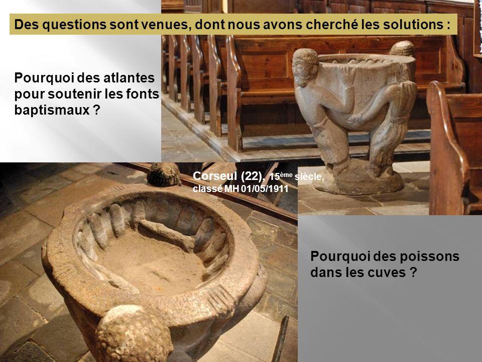 Landébia Enclave de Dol dans le diocèse de Saint- Brieuc Église Saint-Eloi Les cuves baptismales, les bénitiers Cuve baptismale 16ème classée MH 16/11/1958