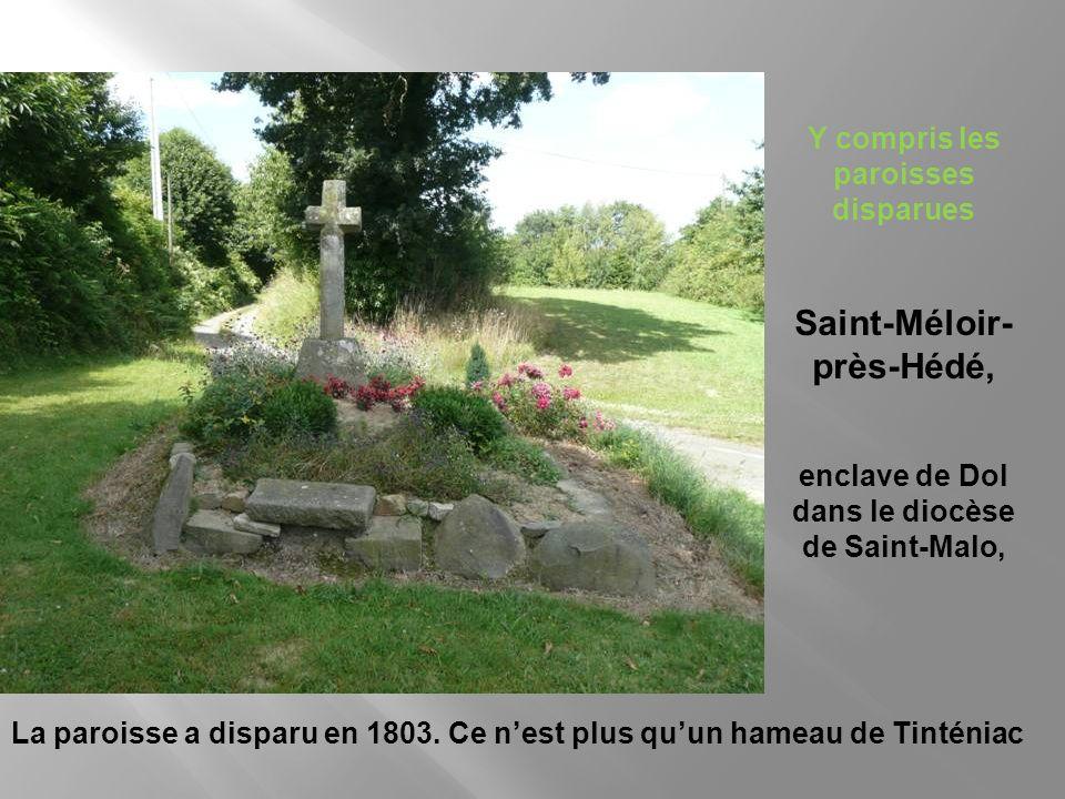 A ce périmètre, nous ajoutons toutes les enclaves du diocèse de Dol, dont 4, situées dans lestuaire de la Seine, ne figurent pas sur cette carte, et l