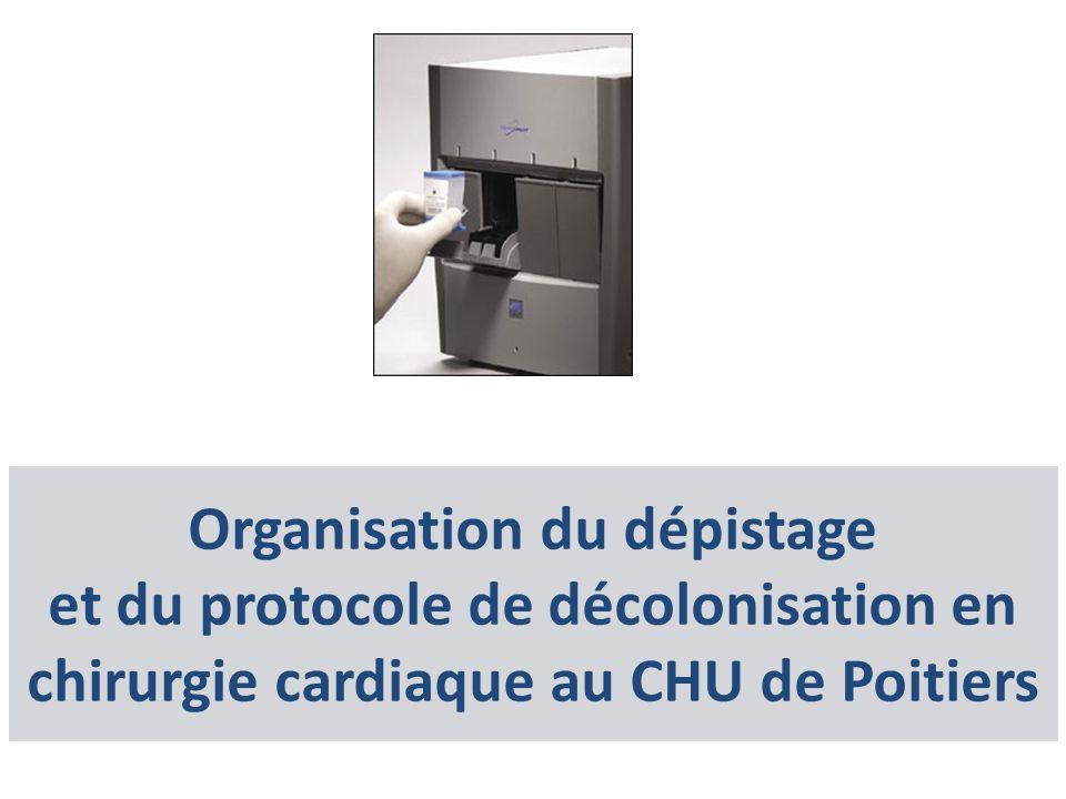 Organisation du dépistage et du protocole de décolonisation en chirurgie cardiaque au CHU de Poitiers