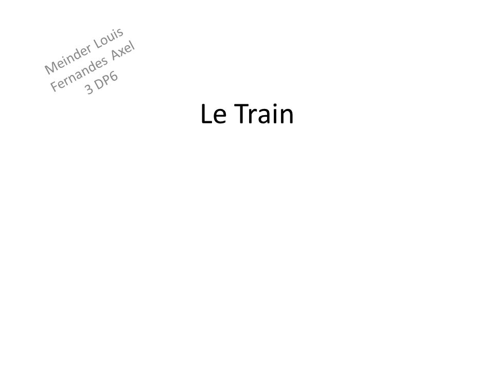 Le train en 1943