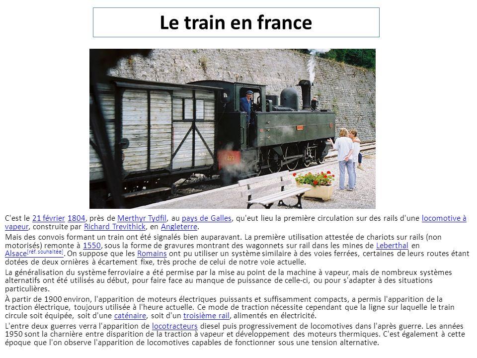 LA TRACTION D UN TRAIN PEUT ÊTRE ASSURÉE PAR PLUSIEURS LOCOMOTIVES.