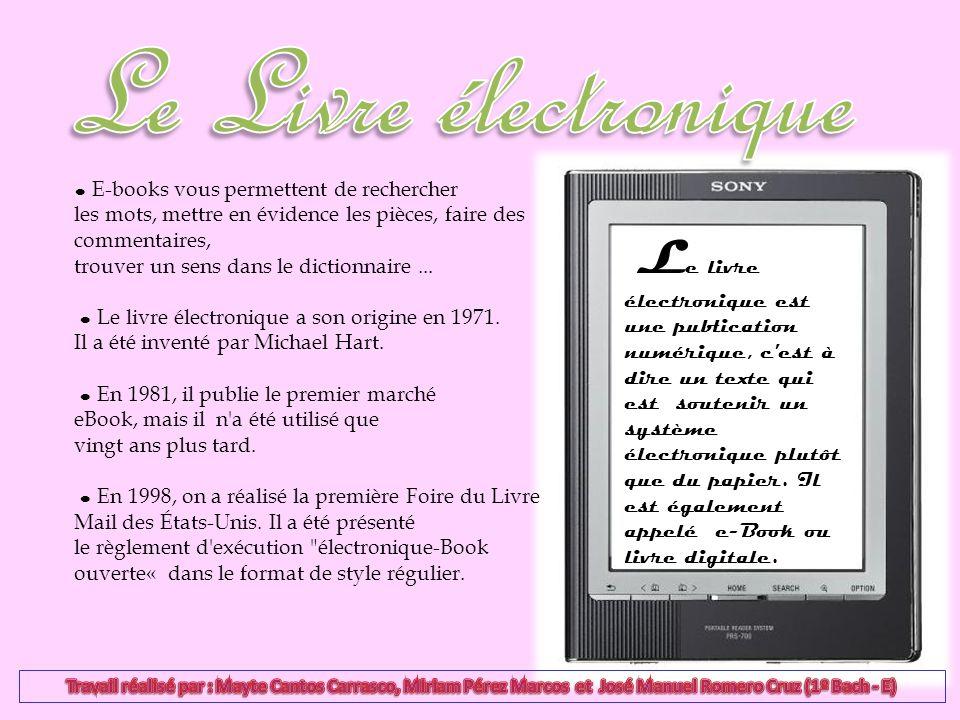 E-books vous permettent de rechercher les mots, mettre en évidence les pièces, faire des commentaires, trouver un sens dans le dictionnaire... Le livr