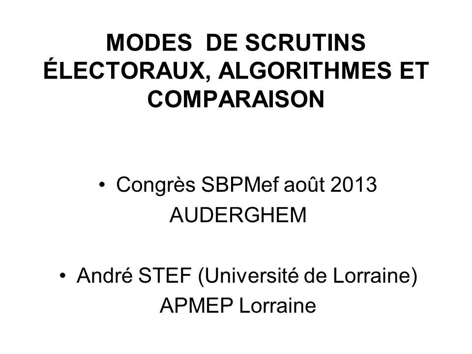 Sénatoriales françaises (4) Explications .