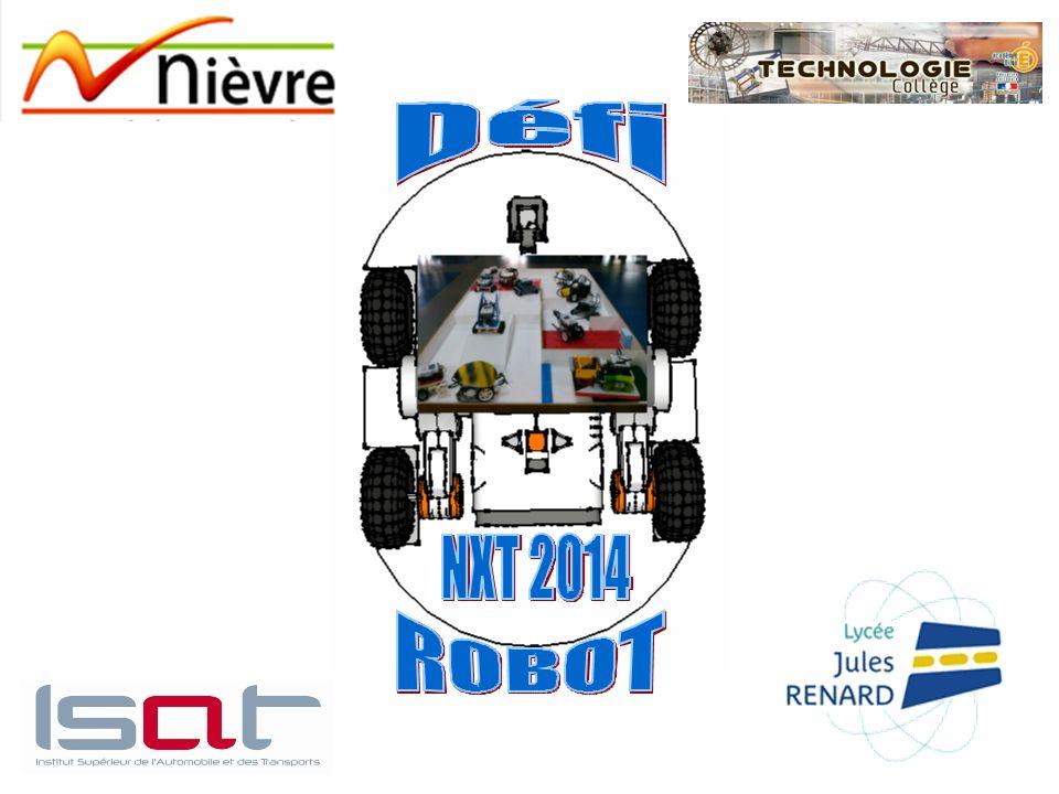 DEFI 2 : Décontamination du bassin dune centrale nucléaire Le robot doit parcourir une piste parsemée dobstacles et accomplir une mission dans la zone rouge.