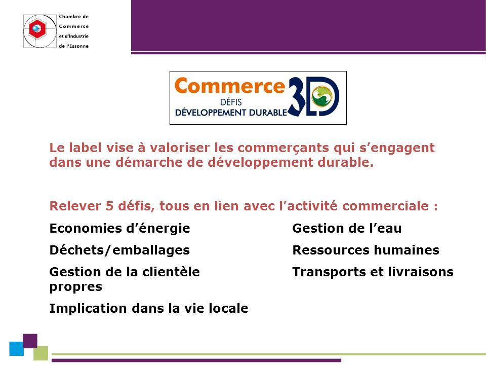 Le label vise à valoriser les commerçants qui sengagent dans une démarche de développement durable.