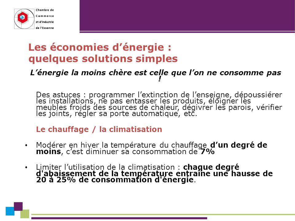 Les économies dénergie : quelques solutions simples Lénergie la moins chère est celle que lon ne consomme pas .