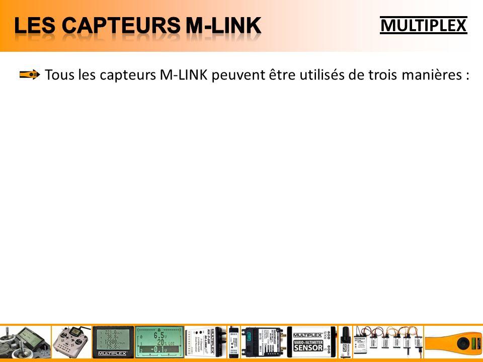 Tous les capteurs M-LINK peuvent être utilisés de trois manières :