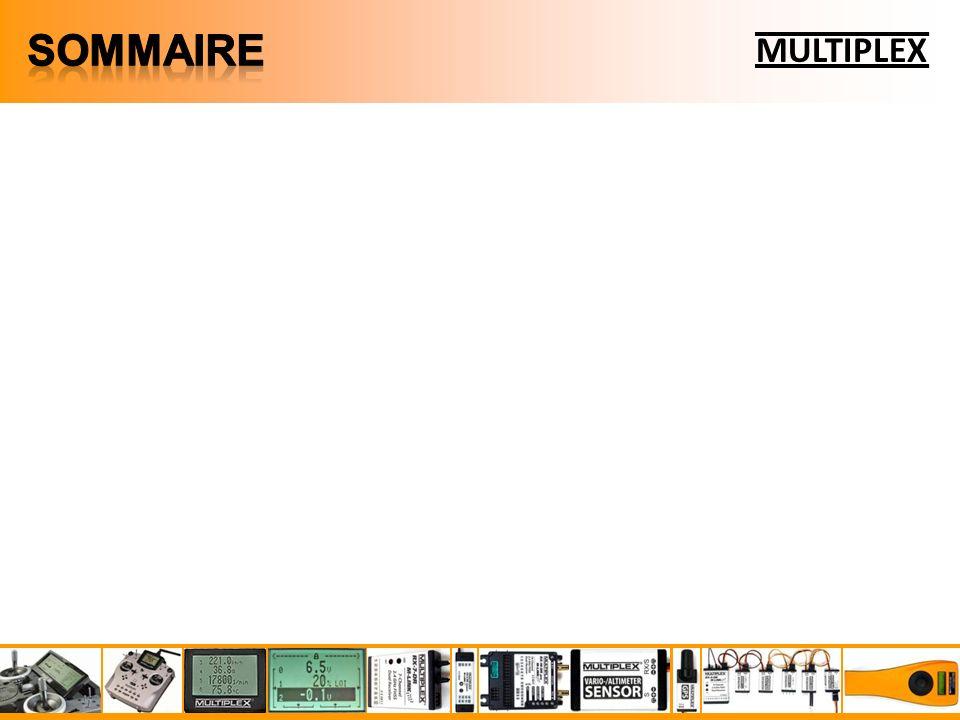 MULTIPLEX Le Multiplex Sensor Bus permet de brancher jusquà 16 capteurs M-LINK peut afficher jusquà 16 mesures simultanément : sur Cockpit SX 8 lignes daffichage de mesure sur Royal Pro/Evo 15 lignes daffichage de mesure sur Ecran de télémesure 16 lignes daffichage de mesure Un capteur peut réaliser deux types de mesures : les mesures principales pré affectées à une ligne daffichage (modifiable) les mesures optionnelles ne saffichent que si lon affecte une ligne daffichage