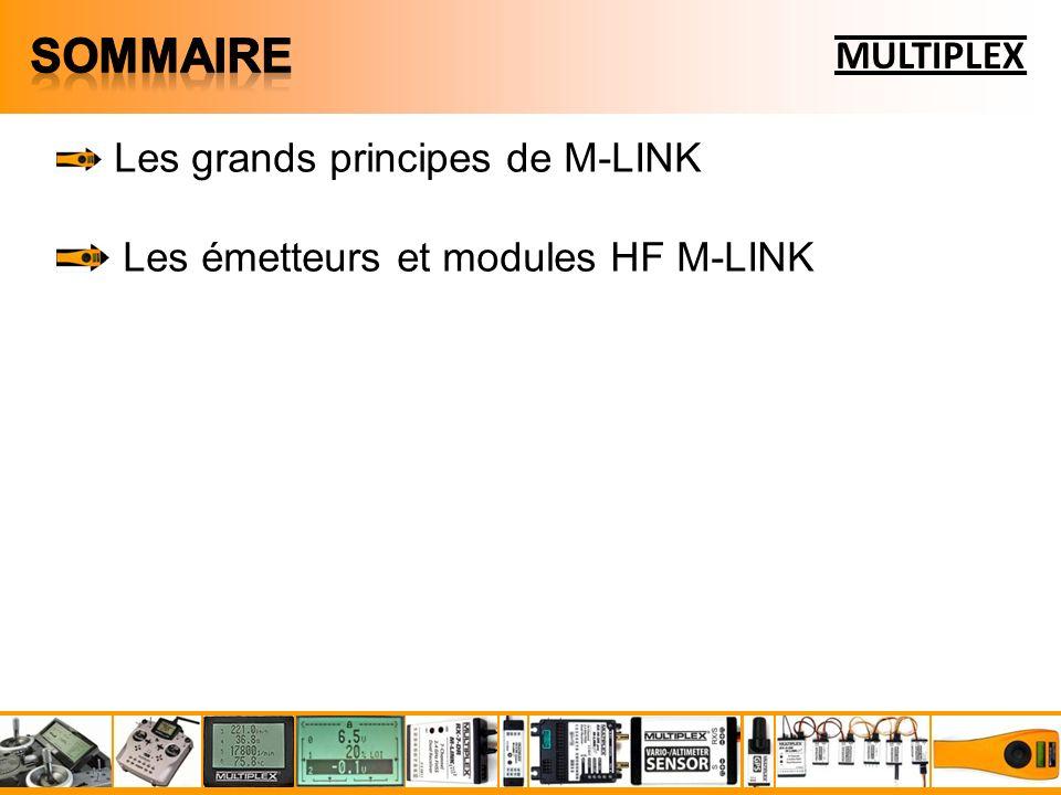 Les grands principes de M-LINK Les émetteurs et modules HF M-LINK Les récepteurs M-LINK MULTIPLEX