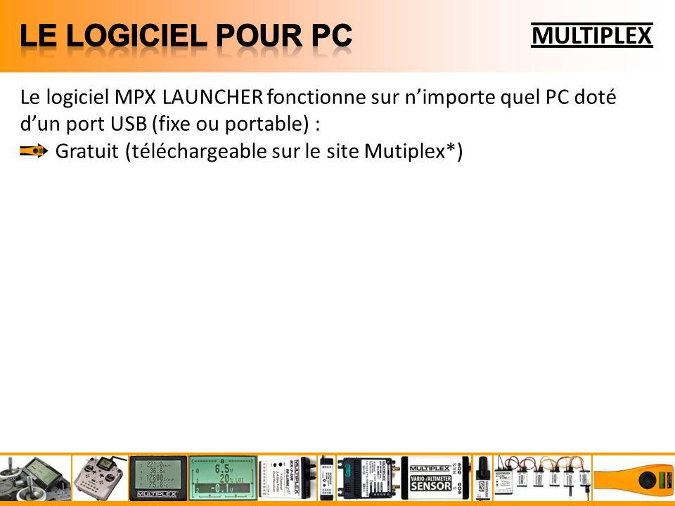MULTIPLEX Le logiciel MPX LAUNCHER fonctionne sur nimporte quel PC doté dun port USB (fixe ou portable) : Gratuit (téléchargeable sur le site Mutiplex*)