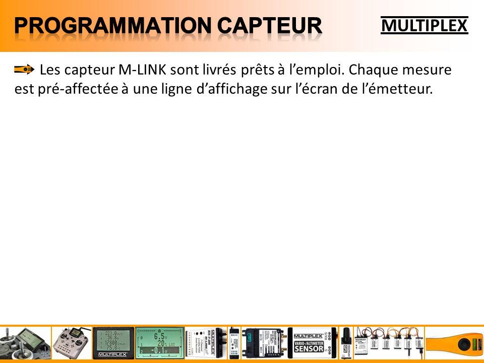 Les capteur M-LINK sont livrés prêts à lemploi.