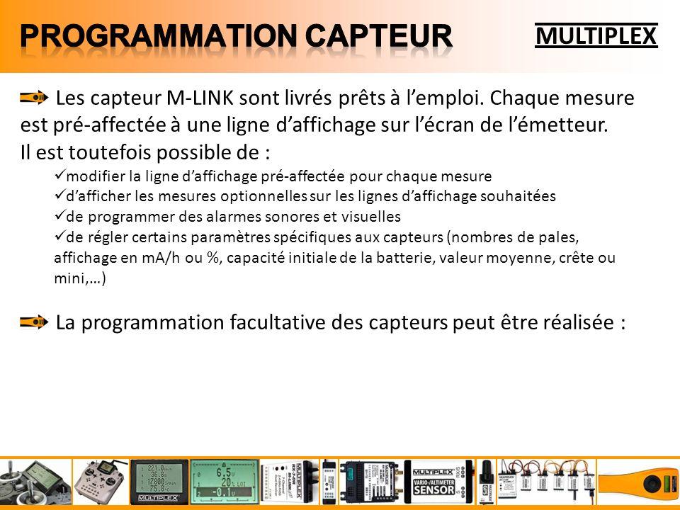 MULTIPLEX Les capteur M-LINK sont livrés prêts à lemploi.