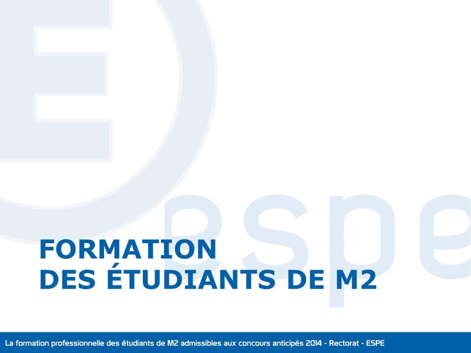 FORMATION DES ÉTUDIANTS DE M2