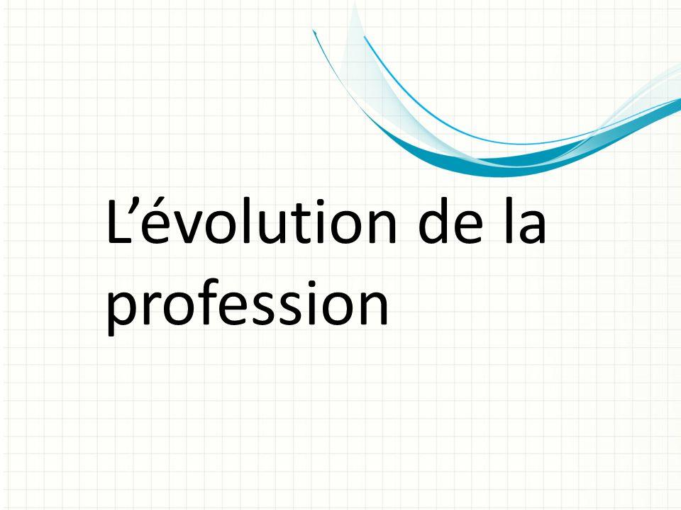 Lévolution de la profession