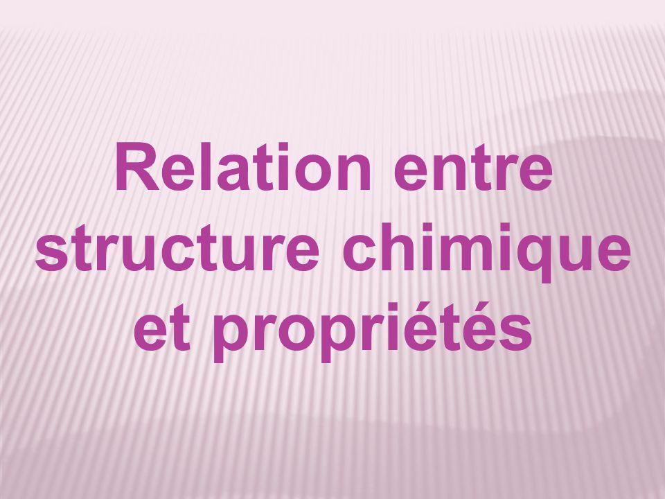 Relation entre structure chimique et propriétés