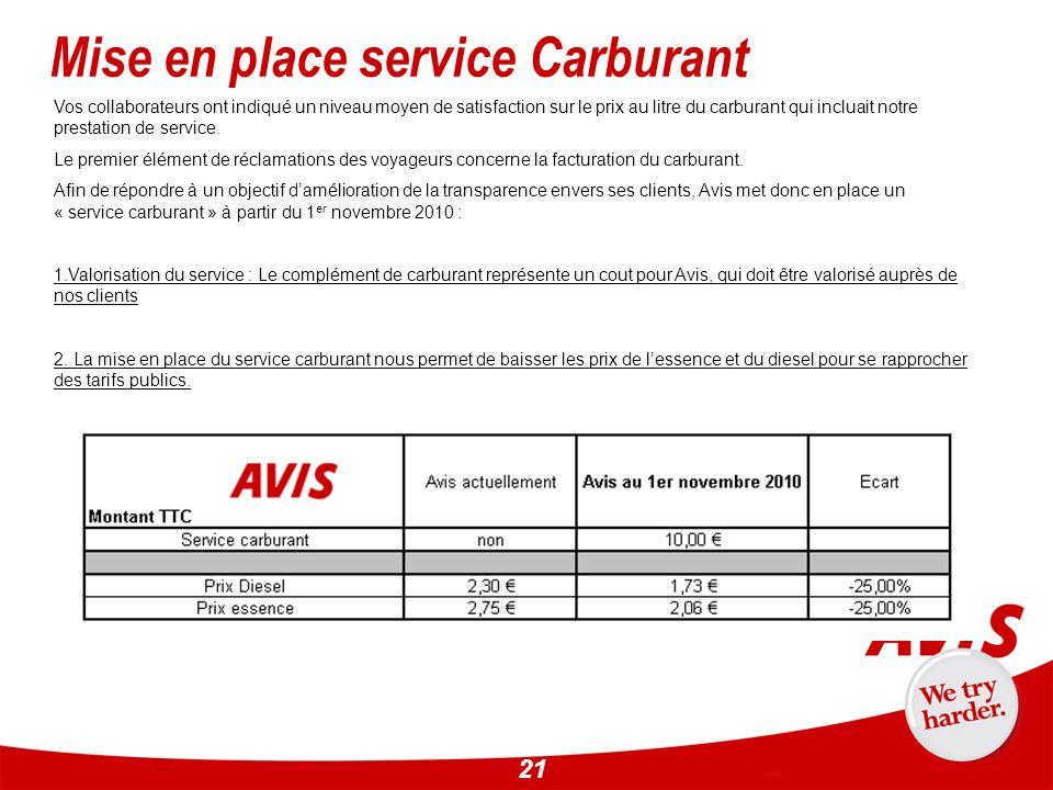 21 Vos collaborateurs ont indiqué un niveau moyen de satisfaction sur le prix au litre du carburant qui incluait notre prestation de service. Le premi