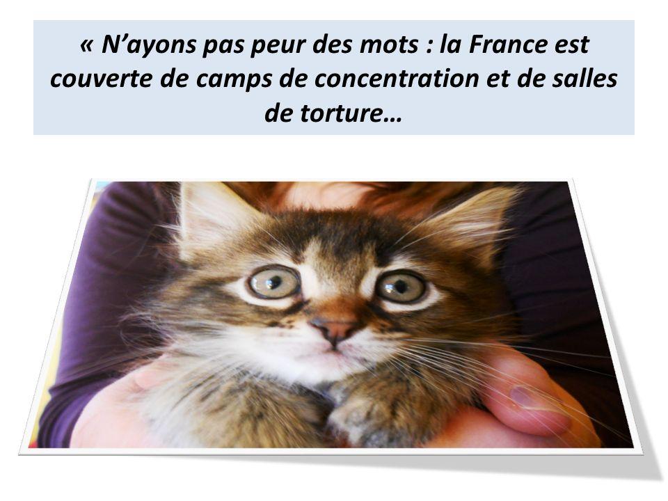 « Nayons pas peur des mots : la France est couverte de camps de concentration et de salles de torture…