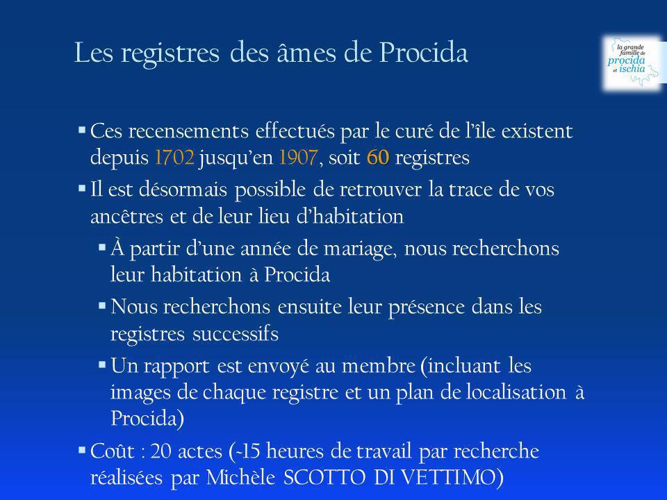 60 Ces recensements effectués par le curé de lîle existent depuis 1702 jusquen 1907, soit 60 registres Il est désormais possible de retrouver la trace