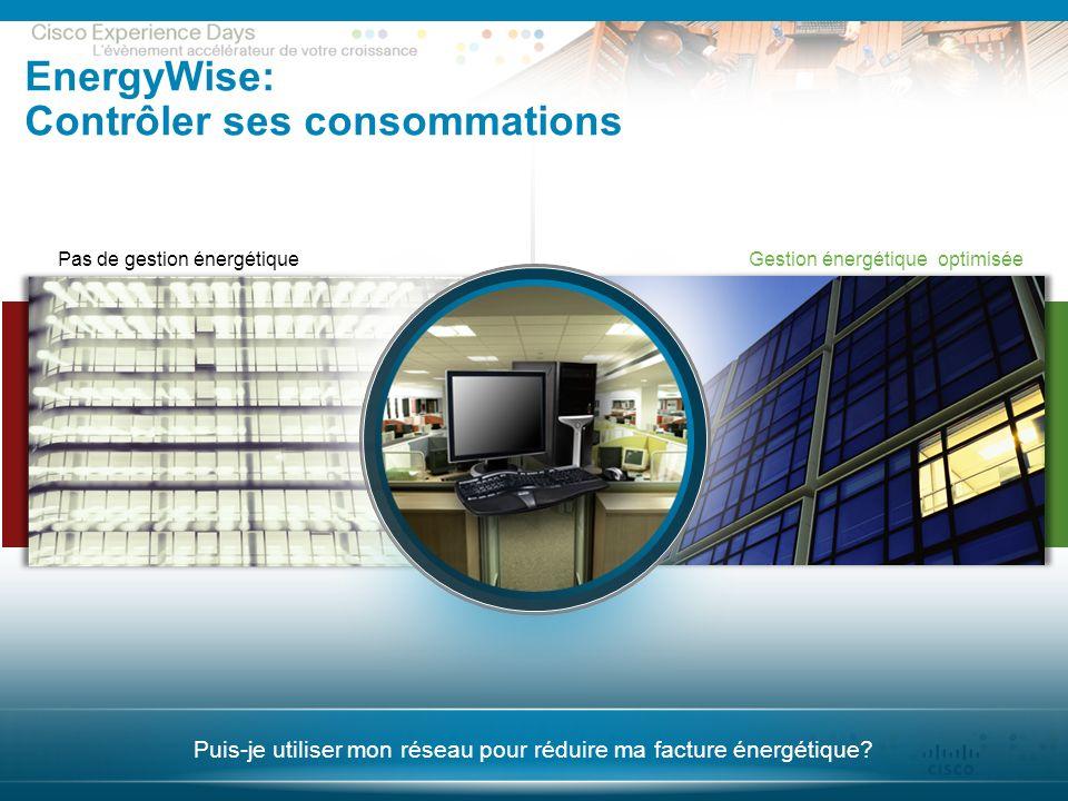 © 2009 Cisco Systems, Inc. All rights reserved. CxD – Session Sécurité 20 Puis-je utiliser mon réseau pour réduire ma facture énergétique? Gestion éne