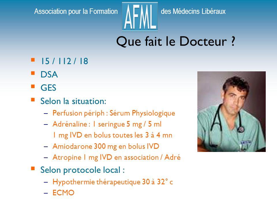 Association pour la Formation des Médecins Libéraux Que fait le Docteur .