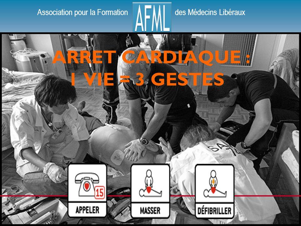 Association pour la Formation des Médecins Libéraux ARRET CARDIAQUE : 1 VIE = 3 GESTES