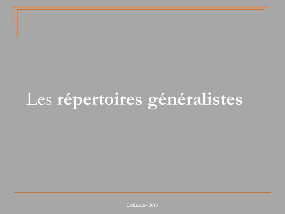 Caractéristiques de loffre Pour connaître le détail des acteurs, voir Fiches_pratiques_repertoires.pdf Dollara.fr - 2013