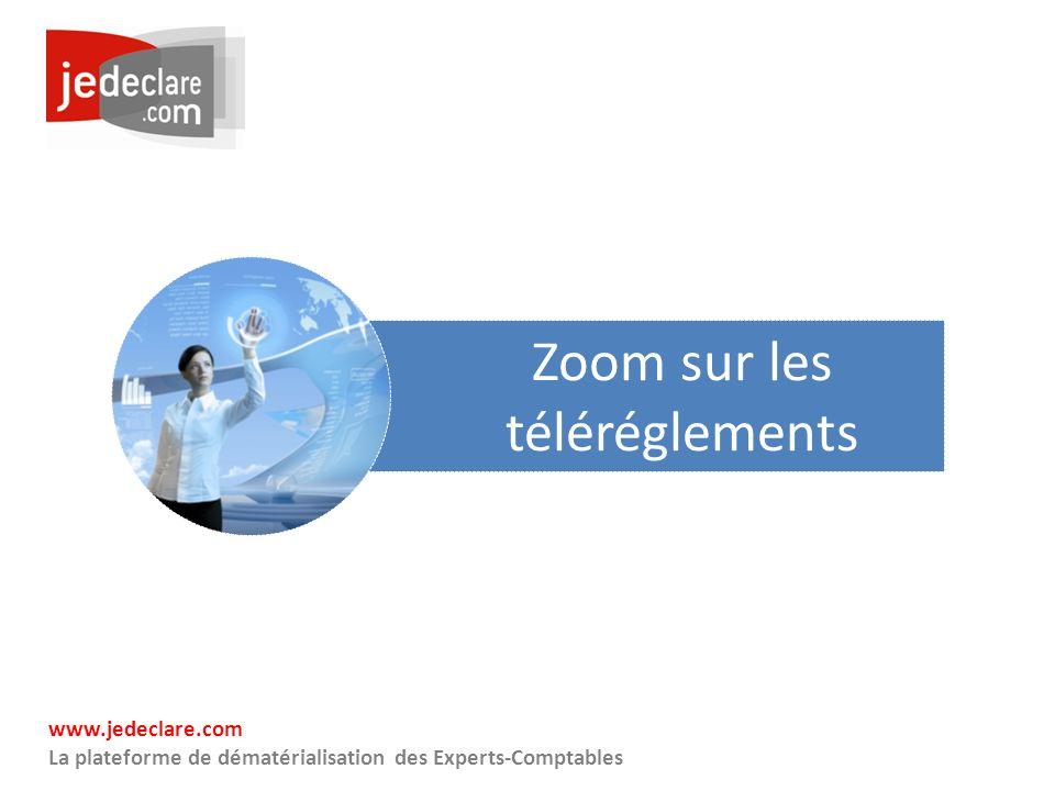 www.jedeclare.com La plateforme de dématérialisation des Experts-Comptables Zoom sur les téléréglements