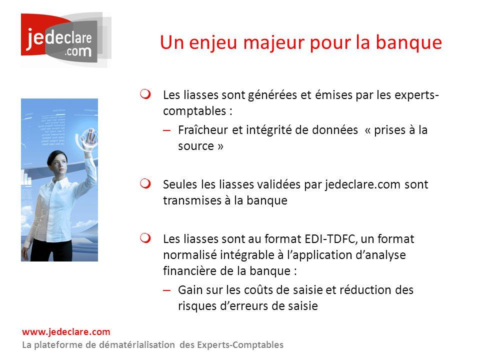 Un enjeu majeur pour la banque Les liasses sont générées et émises par les experts- comptables : – Fraîcheur et intégrité de données « prises à la sou
