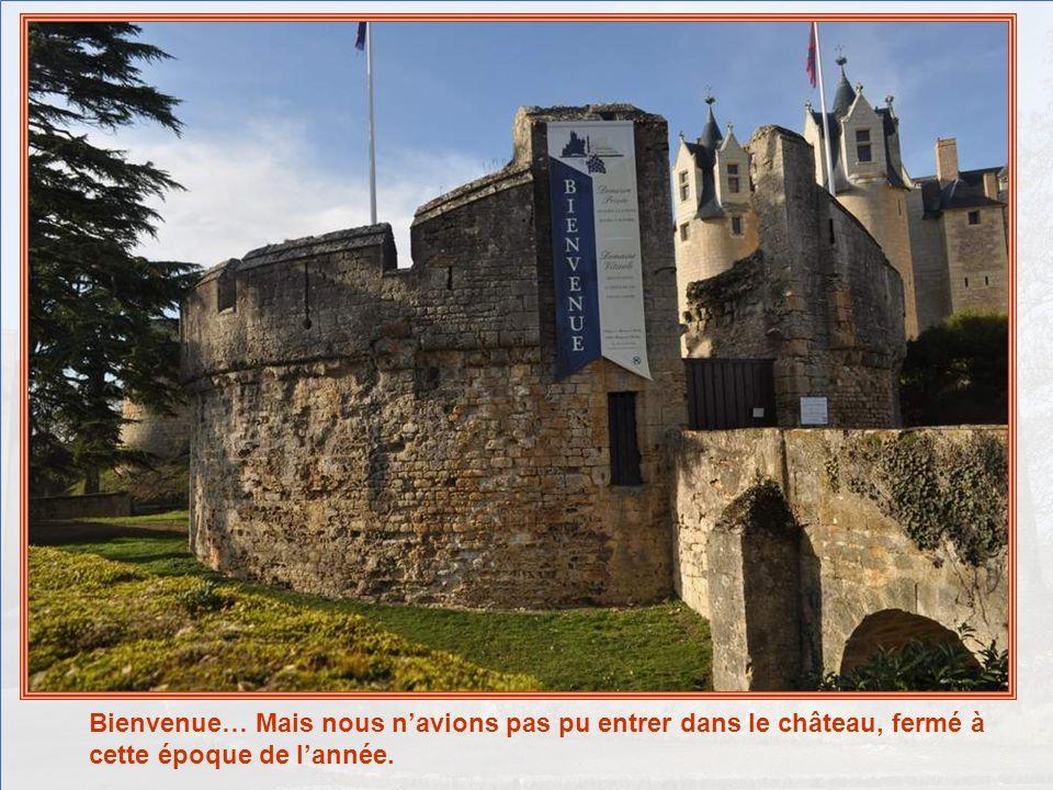 Bien à labri de ses formidables fortifications, Montreuil-Bellay semble défier le temps. Nous ne rentrerons pas en ville, il est déjà tard. Juste, pou
