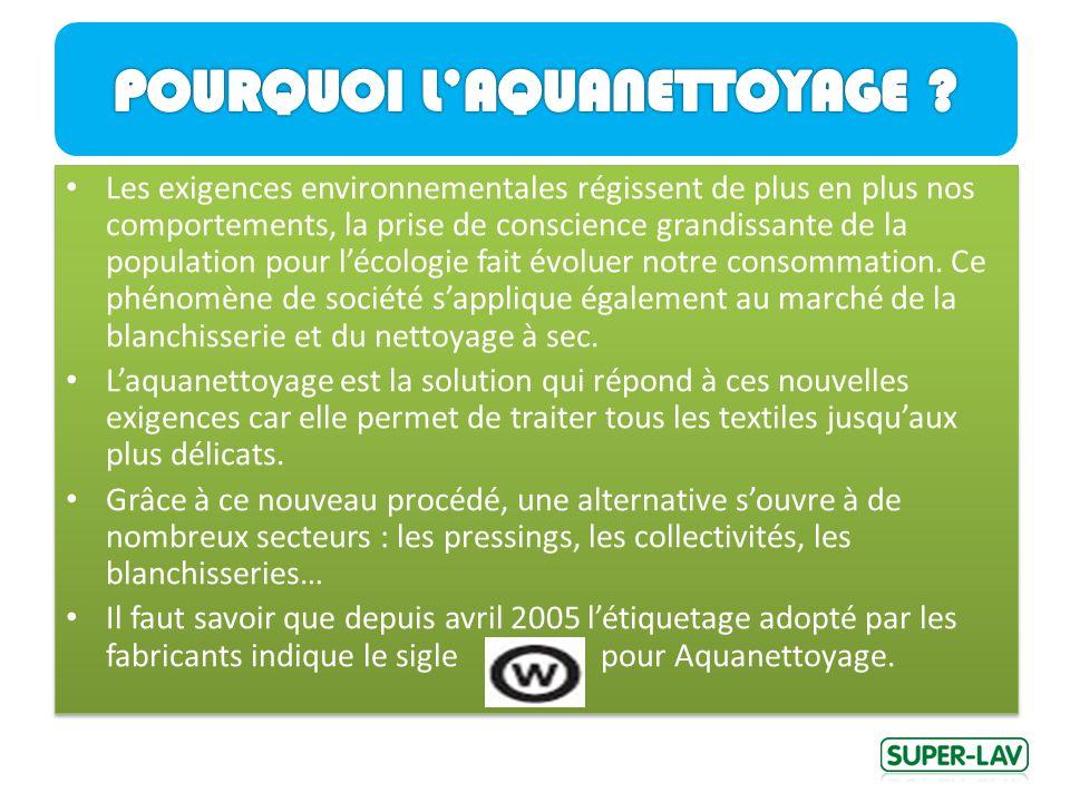 Les exigences environnementales régissent de plus en plus nos comportements, la prise de conscience grandissante de la population pour lécologie fait évoluer notre consommation.