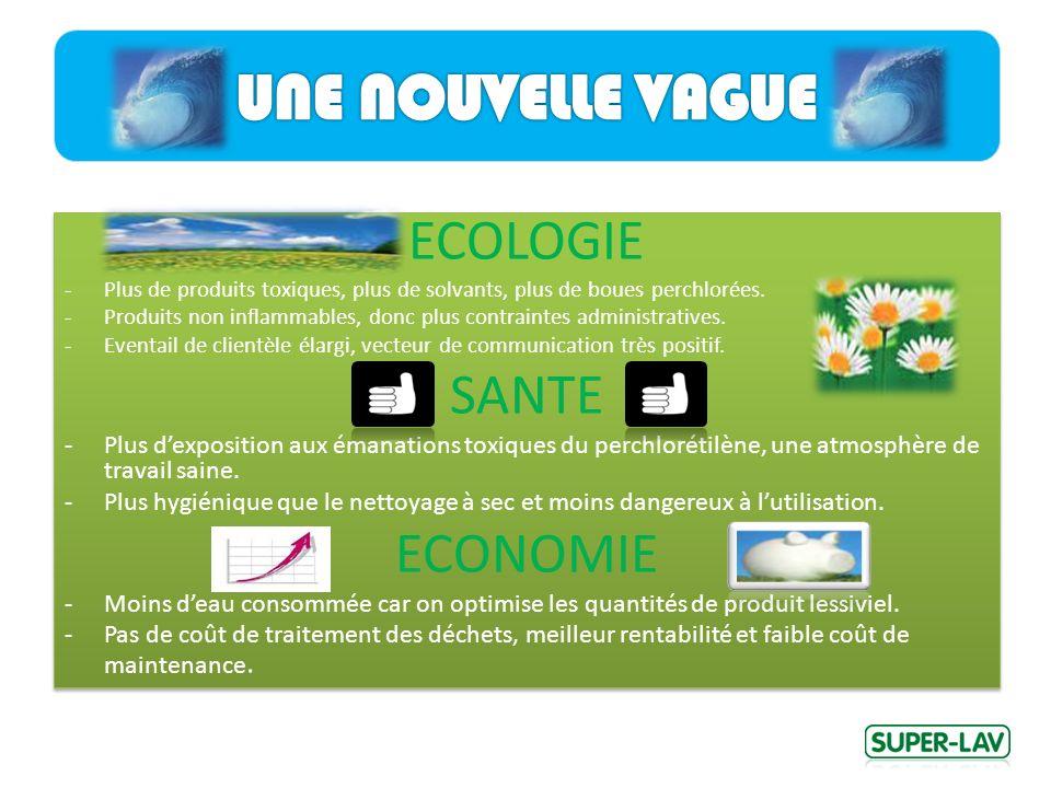 ECOLOGIE -Plus de produits toxiques, plus de solvants, plus de boues perchlorées.