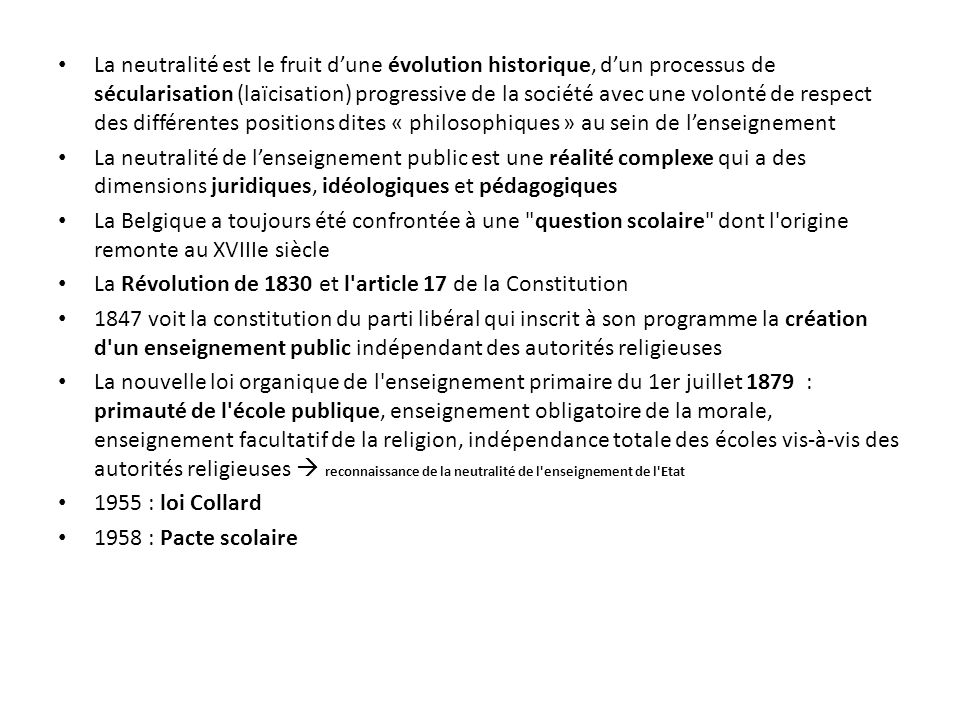 2.2 Le pluralisme scolaire