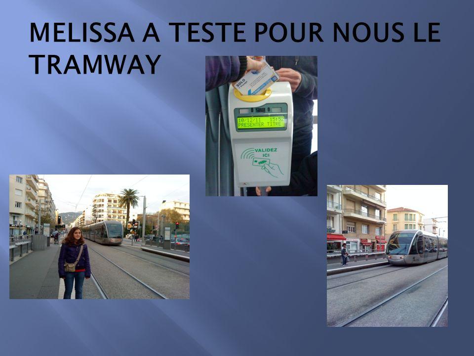 MELISSA A TESTE POUR NOUS LE TRAMWAY