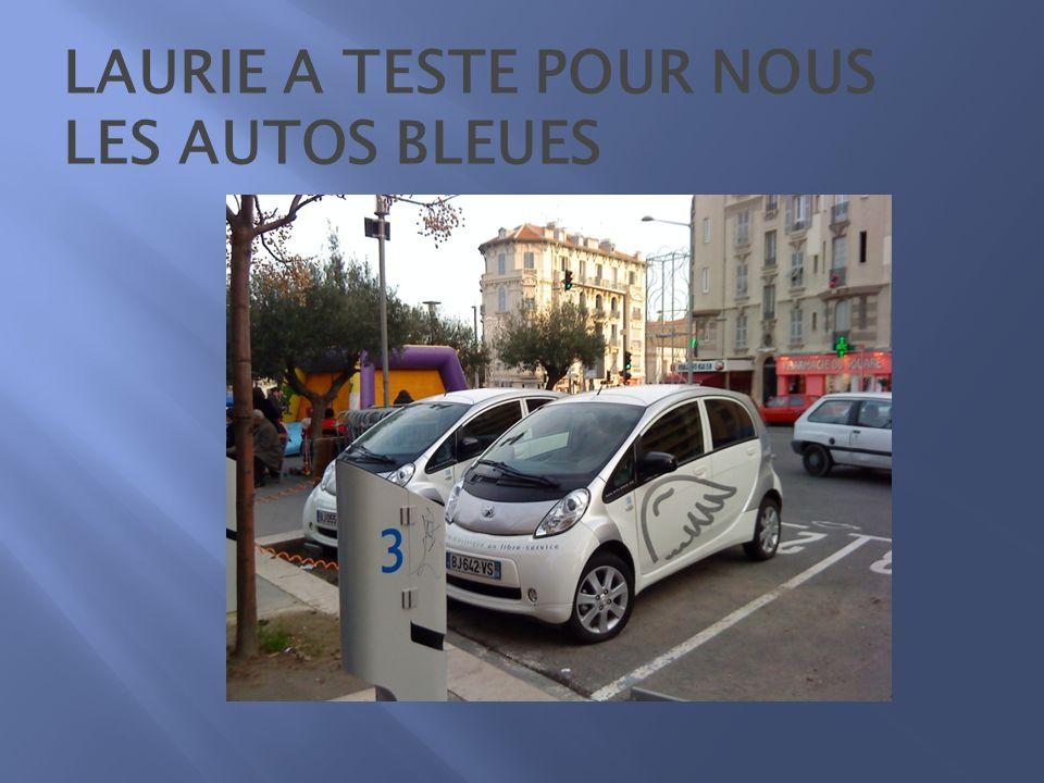 LAURIE A TESTE POUR NOUS LES AUTOS BLEUES