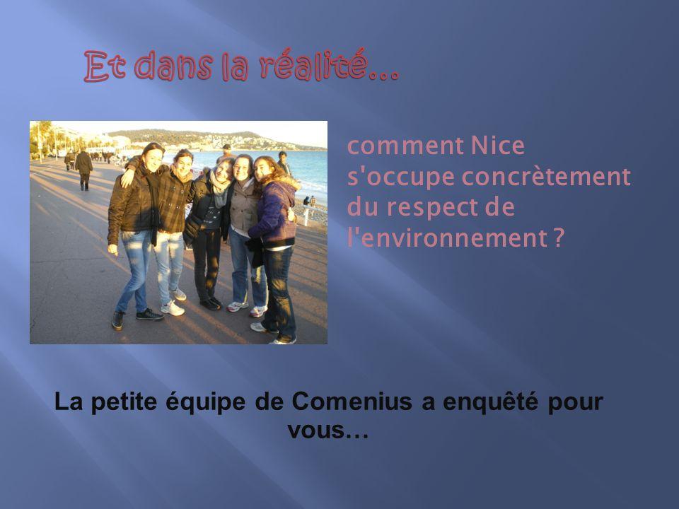 comment Nice s occupe concrètement du respect de l environnement .