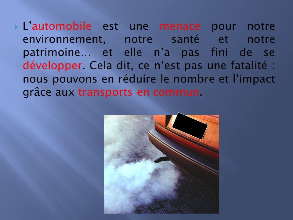 Tous les moyens de transports ne rejettent pas la même quantité de dioxyde de carbone qui est à lorigine de maladies respiratoires et dun certain nombre de décès.