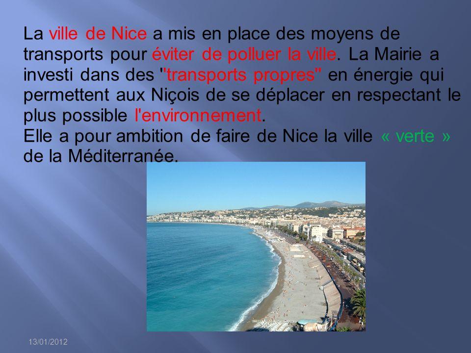 13/01/2012 La ville de Nice a mis en place des moyens de transports pour éviter de polluer la ville.