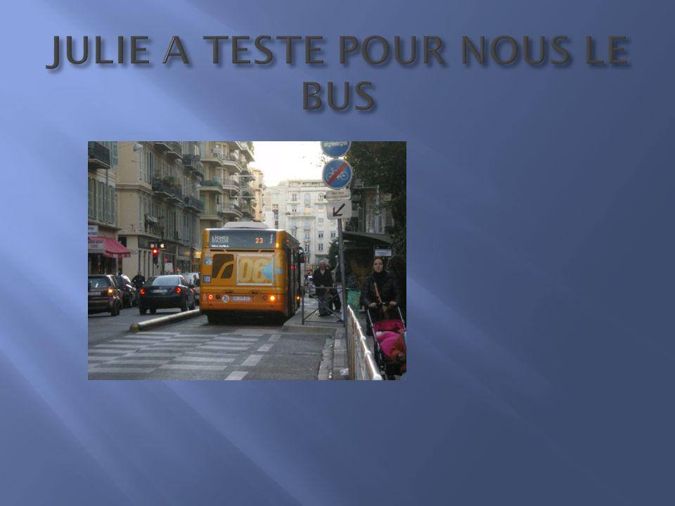 Le bus est un moyen de transport propre en énergie car il permet de transporter environ 40 voyageurs par trajet et de desservir environ 647 points d arrêt ainsi que 5 communes dont Nice.