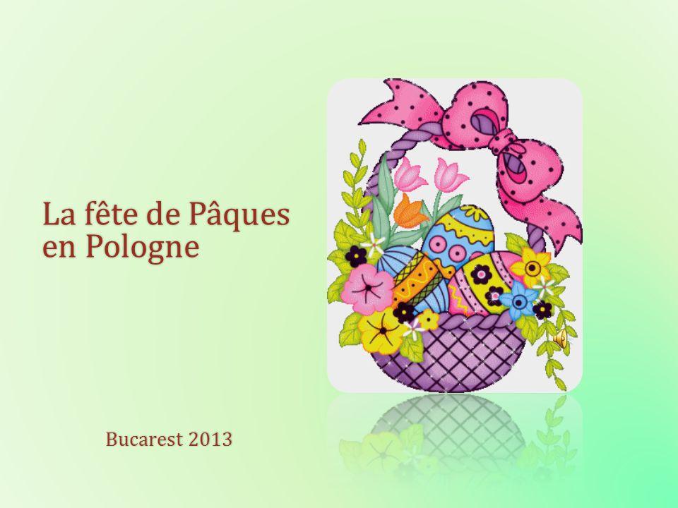 A l occasion de Pâques les Polonais se souhaitent: Bonnes Fêtes, bon oeuf et śmigus-dyngus très aspergé Joyeuses Fêtes de Pâques et Wesołego alleluja