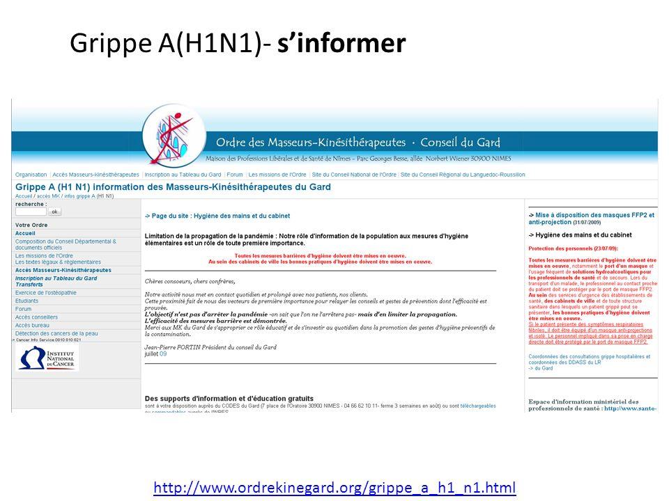 Grippe A(H1N1)v QUELQUES REPERES